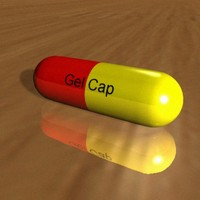 professionally gel capsule 3d model
