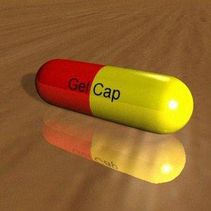 professionally gel capsule 3d model
