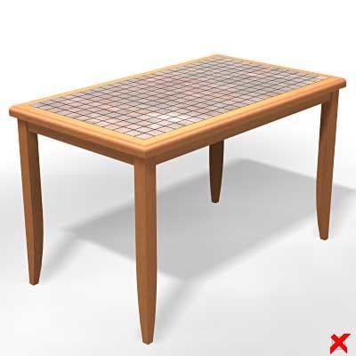 3d model table kitchen