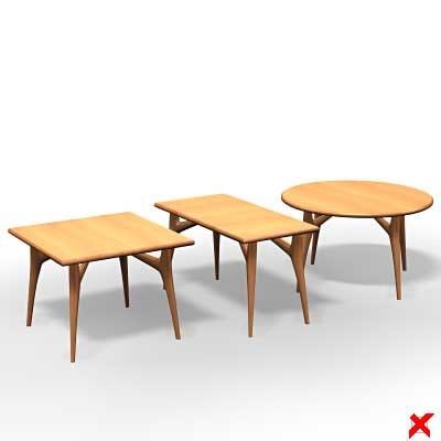 3d model tables set