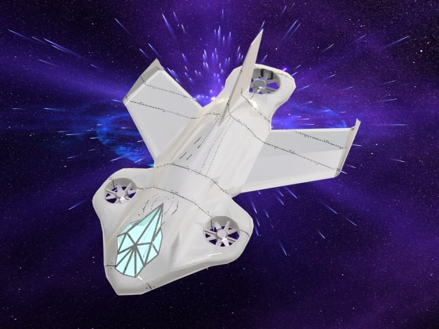 3ds space spaceship