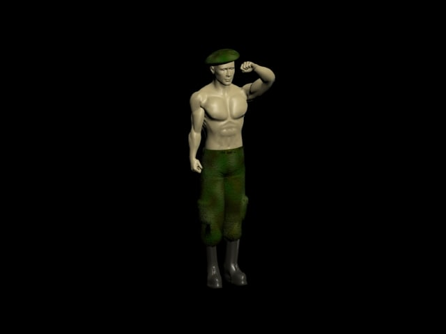 soldiers rig 3d model
