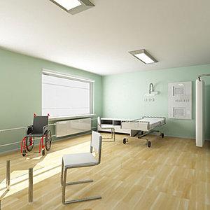 3d model hospital isolation ward