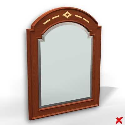 3d model mirror furniture