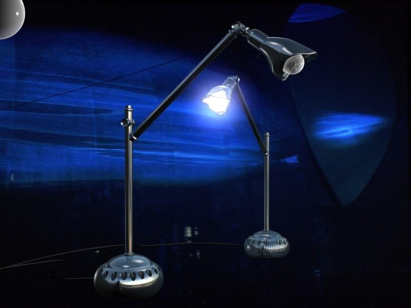 designer lamp bulb 3d max