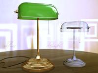 3d model standard banker lamp