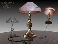 gold lamp table 3d model