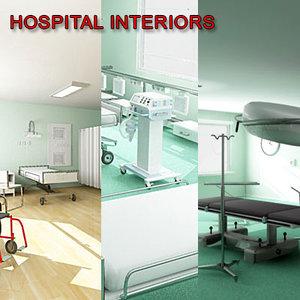 hospital ward surgery room 3d model