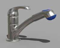3d faucet kitchen sink model