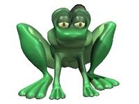 frog character hop 3d model