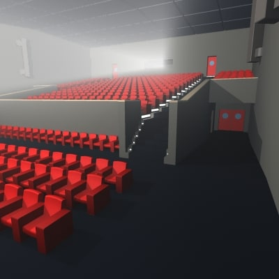 3ds max movie theater