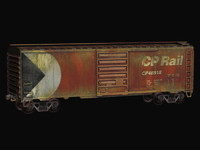 3ds max canadian pacific boxcar