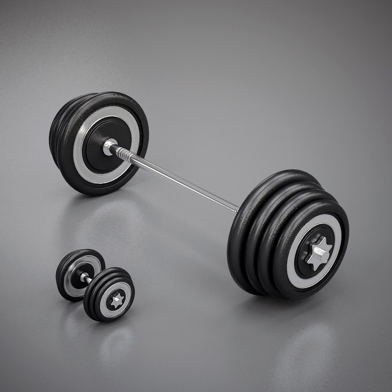 3d model weight exercise dumbell