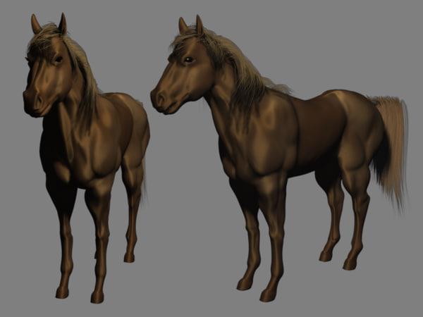 3d model horse animate