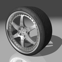 3d model of hre 546r wheel tires