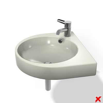 3d sink basin model
