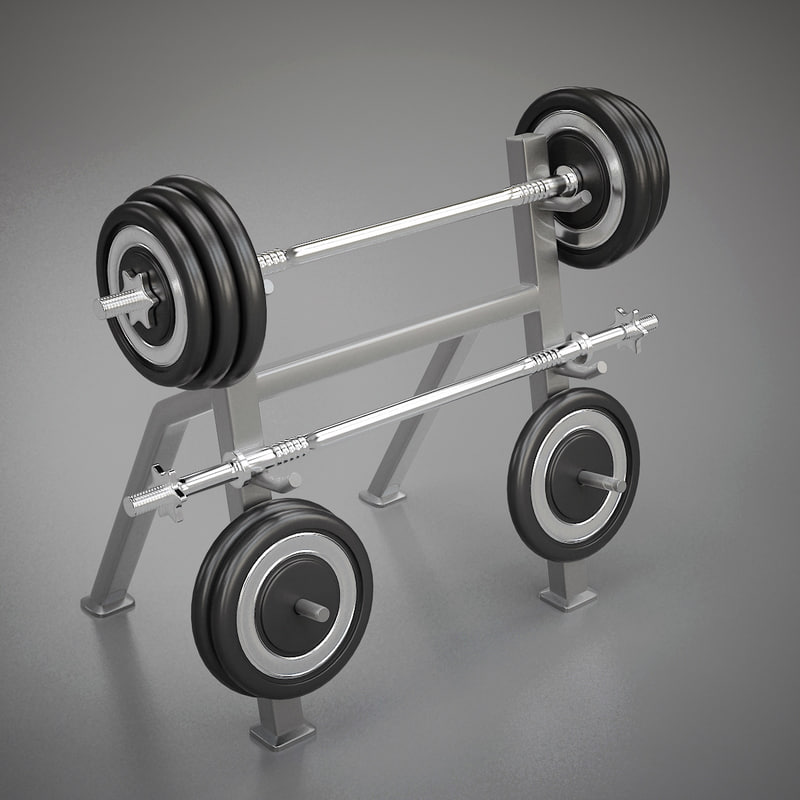 3d model of weight set