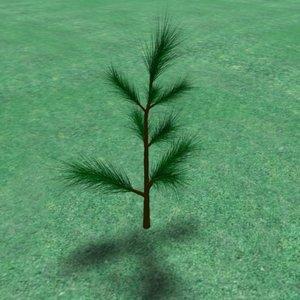 free 3ds model needle pines tree