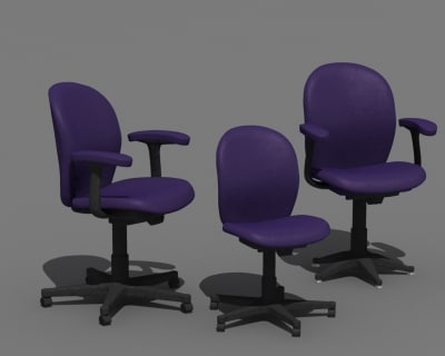 herman miller ambi chair 3d model