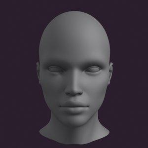 polygonal female head 3d max