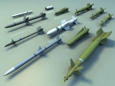 3d model missiles bombs aim9l