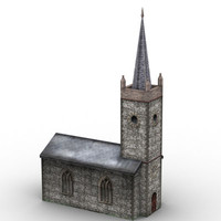 protestant church 3d max
