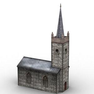 protestant church 3d max