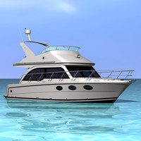 3d model cabin cruiser boat