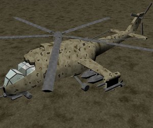 mi24 hind attack helicopter 3d model