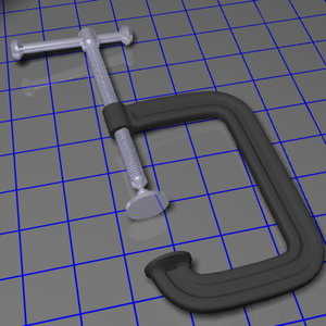 cast c clamp 6 3d model
