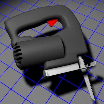 3d model power scroll saw