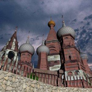 church moscow kremlin 3d model