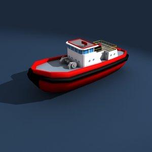 small boat 3d max