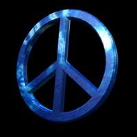 peace sign 3d model