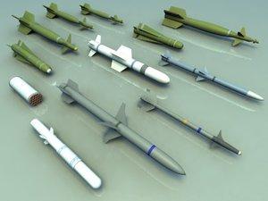 missiles bombs aim9l 3d 3ds