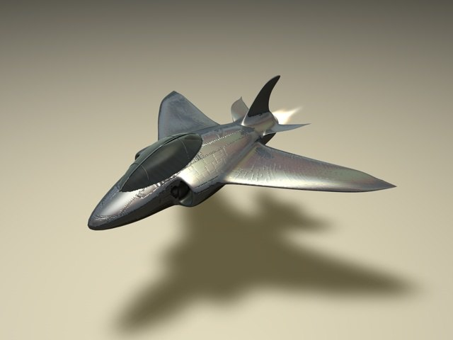 c4d aeroplane fighter