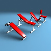 workout benches 3d model