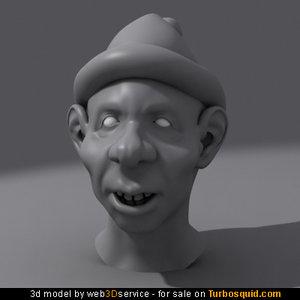 gnome head 3d model