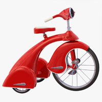 d retro tricycle model