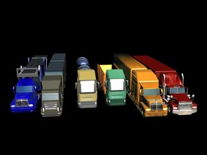 3d 3ds truck trailer package