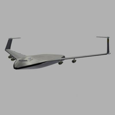 3d global reach transport supersonic model