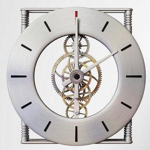 gear clock 3d model