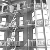 newyork building facade 3d model