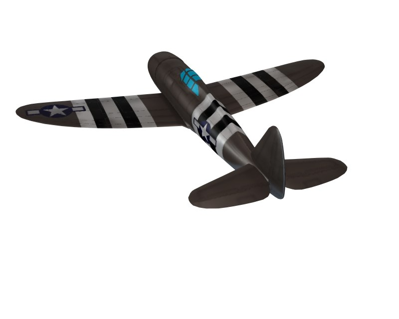 free p47 fighter 3d model
