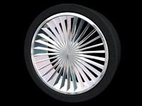 3d model spoke chrome wheels tyres