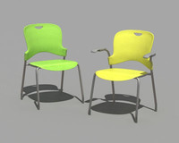 herman miller caper stacking chair 3d model