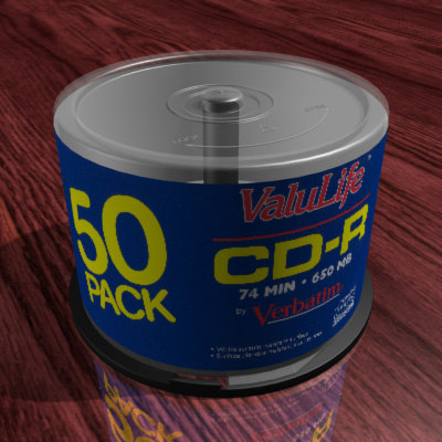 3dsmax cd dvd spindle