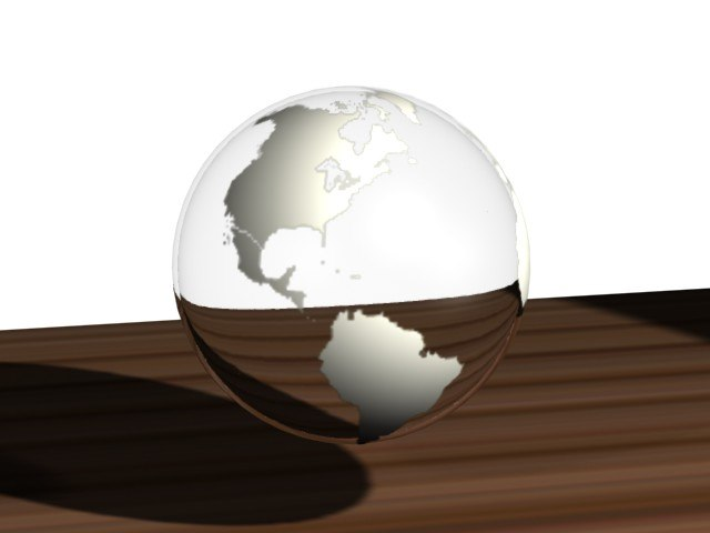 3d model glass globe mapping