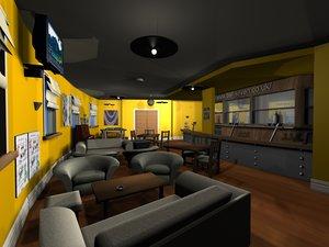 3d bar beer decks model