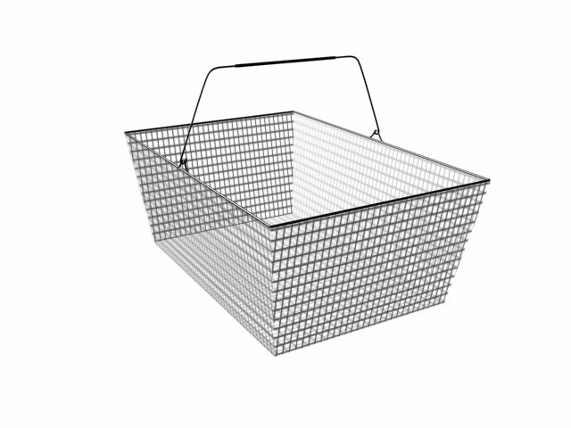 shopping basket 3d max